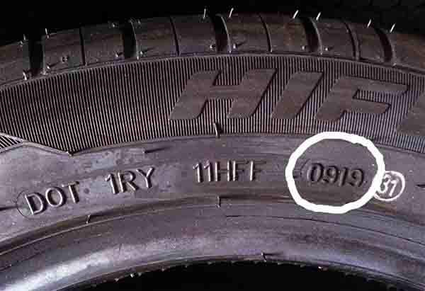 Como escolher pneus, o código DOT
