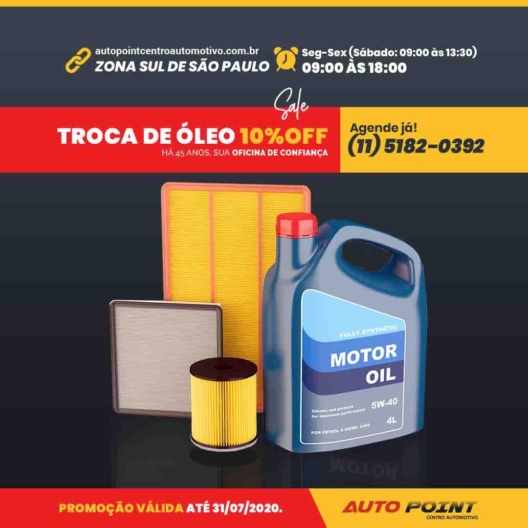 Troca de Óleo com 10% de desconto - Zona Sul de São Paulo - Versão Mobile
